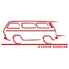 Speedy VW Vanagon Caravelle Transporter Kombi Windows Red by Frank Schuster