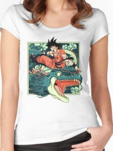 NEVER ENDING STORY - GOKU Women's Fitted Scoop T-Shirt