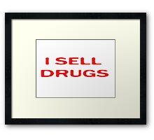 Drugs Funny Pharmacy T-Shirt Framed Print