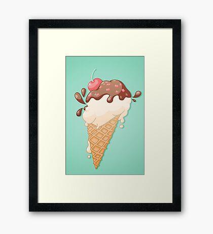Icecream Yum! Framed Print