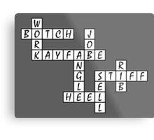 Wrestling Fan Crossword Puzzle Metal Print