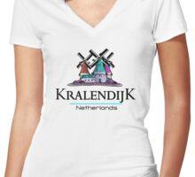 Kralendijk, The Netherlands Antilles Women's Fitted V-Neck T-Shirt