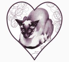 Siamese Champion Cat 2 Kids Tee