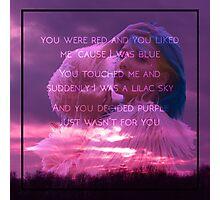 Halsey-Colors lyric Photographic Print