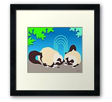 Crunch and Crumble Cats Find A Bug Framed Print