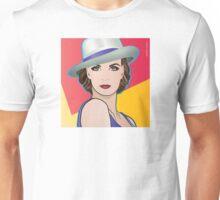 Pop Art Girl Illustration of Ingrid Unisex T-Shirt