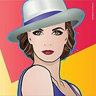 Pop Art Girl Illustration of Ingrid by Frank Schuster