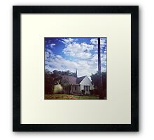 Cottage with Clouds Framed Print