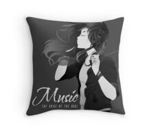 Music - The voice of the soul Throw Pillow