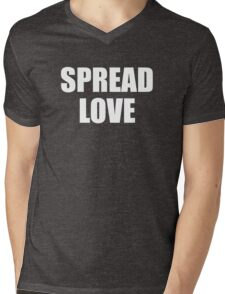 Spread Love Mens V-Neck T-Shirt