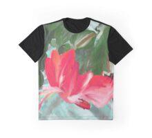 Christmas Cactus Graphic T-Shirt
