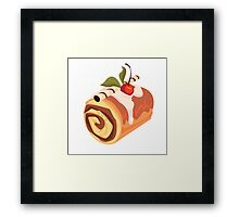 Chocolate and Cherry Dessert Roll Framed Print