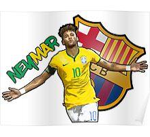 Neymar Jr Brazil FC Barcelona Poster