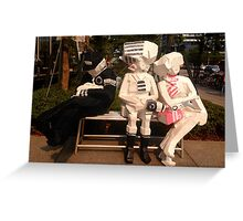 Taiwan - Taipei - goofy bench art Greeting Card