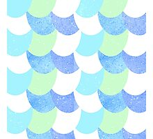 Mermaid Scales Blue/Green/White Photographic Print