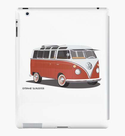 Hippie 21 Window VW Bus Red/White Samba Van iPad Case/Skin