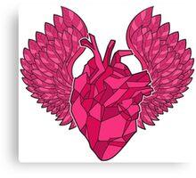 Origami Heart Canvas Print