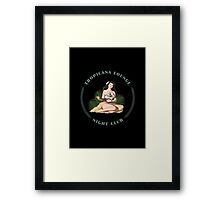 Tropicana Lounge Night Club Tropical Hula Girl 1 Framed Print