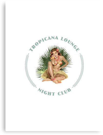Tropicana Lounge Night Club Tropical Hula Girl 3 by Frank Schuster