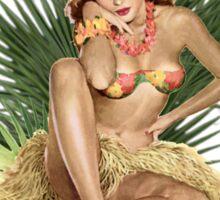 Tropicana Lounge Night Club Tropical Hula Girl 3 Sticker
