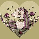 Valentine Unicorn by Anita Inverarity