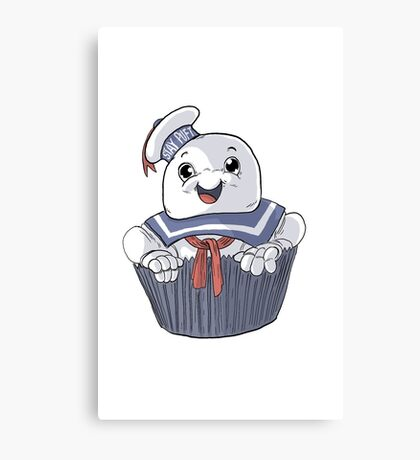 Stay Puft Cupcake Canvas Print