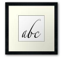 """pencil abc"" Framed Print"