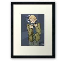 I Stole Your Scarf Framed Print