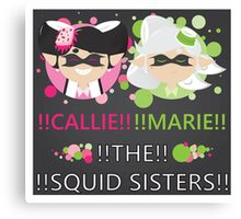 Squid Sisters Poster (English) Canvas Print