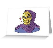 Skeletor in Love Greeting Card