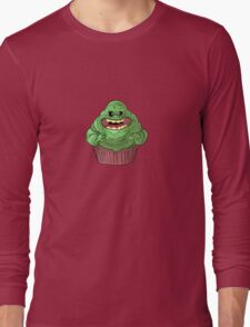 Slimer Cupcake Long Sleeve T-Shirt