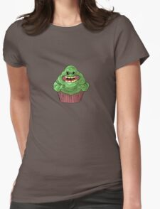 Slimer Cupcake Womens Fitted T-Shirt