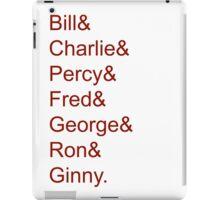 The Weasley Children iPad Case/Skin