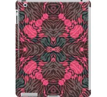 Pink Grey Zebra Kaleidoscope  iPad Case/Skin