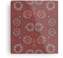 """""""Find the rabbit"""" abstract pattern, pastel, grey and terracotta, earth tones Metal Print"""