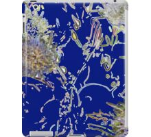 Retro floral pattern in blue    iPad Case/Skin