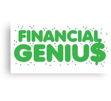 Financial genius $ Canvas Print