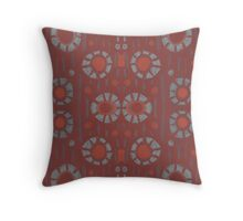 """""""Find the rabbit"""" abstract pattern, pastel, grey and terracotta, earth tones Throw Pillow"""