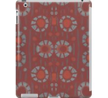 """Find the rabbit"" abstract pattern, pastel, grey and terracotta, earth tones iPad Case/Skin"