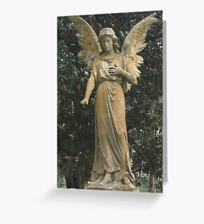 STONE ANGEL CEMETERY STATUE  Greeting Card