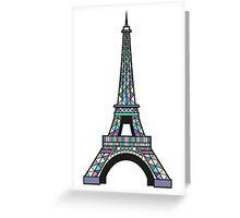 Eiffel Mosaic Greeting Card