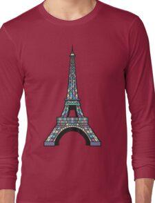 Eiffel Mosaic Long Sleeve T-Shirt