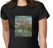 'Pink Peach Trees Souvenir de Mauve' by Vincent Van Gogh (Reproduction) Womens Fitted T-Shirt