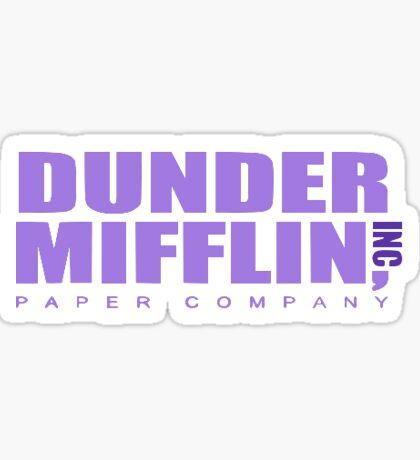 Dunder Mifflin Inc Paper Company the Office Sticker