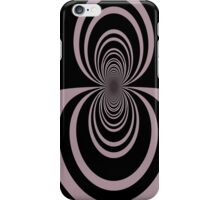 Black lavender mirror image abstract     iPhone Case/Skin