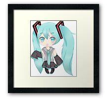 Hatsume Miku Chibi Framed Print