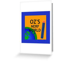 Oz's Nerf World Design Greeting Card