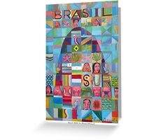 Brasil, 2012  by Diego Manuel Greeting Card