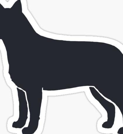 Australian Cattle Dog Silhouette(s) Sticker