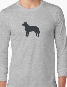 Australian Cattle Dog Silhouette(s) Long Sleeve T-Shirt